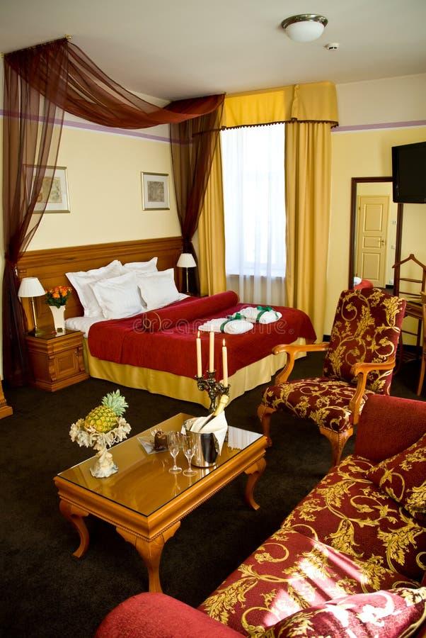 Habitación de hotel de lujo imagen de archivo