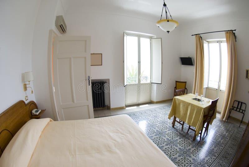Habitación de hotel Italia sicliy imagen de archivo