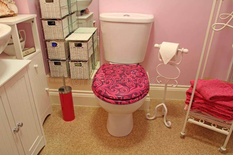 Habitación de lujo moderna del retrete del cuarto de baño fotografía de archivo libre de regalías
