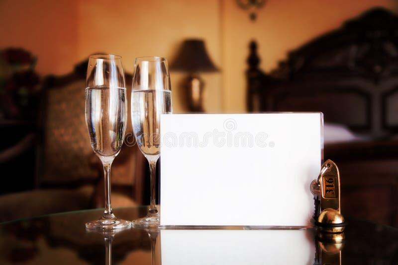 Habitación de lujo. Tarjeta en blanco foto de archivo libre de regalías