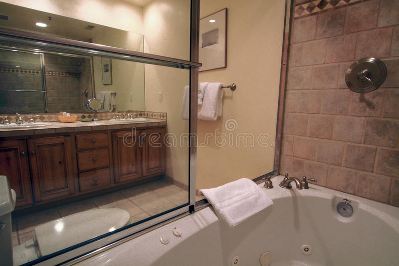 Habitación del cuarto de baño imagen de archivo