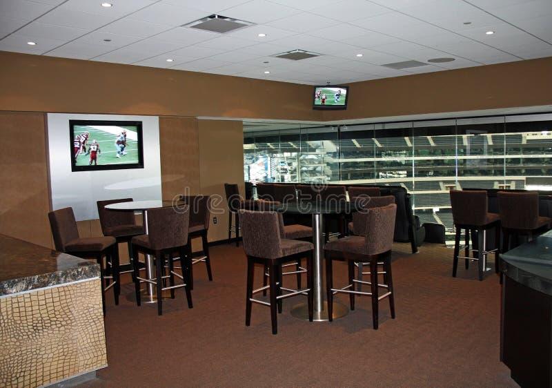 Habitación del lujo del Super Bowl del estadio de los vaqueros imagen de archivo