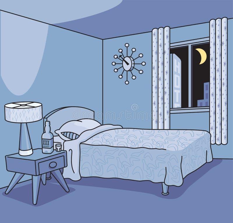 Habitación retra libre illustration