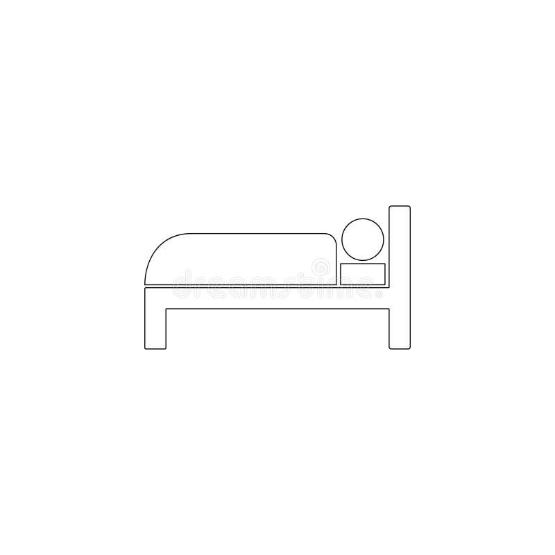 Habitaci?n, cama Icono plano del vector libre illustration
