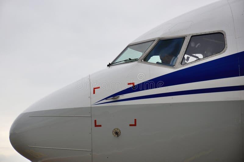 Habitacle d'avion photographie stock libre de droits