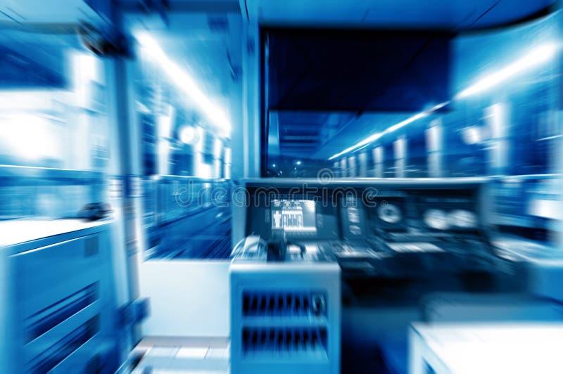 Habitacle de métro, image bleue de ton images libres de droits