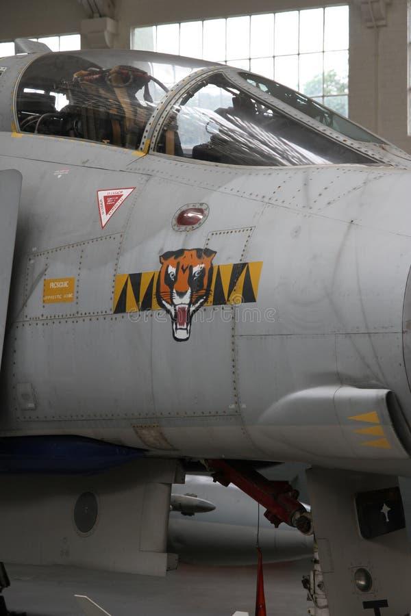 Habitacle et insignes du fantôme II de McDonnell Douglas F-4 image stock