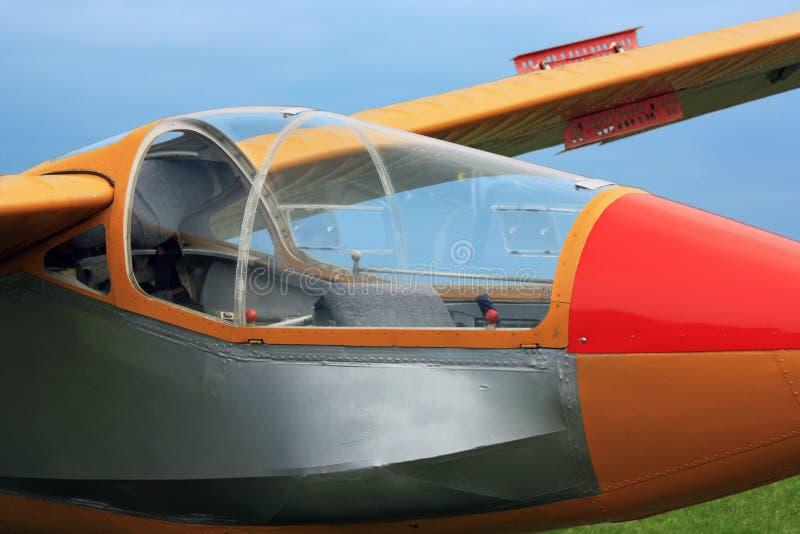 Habitacle hongrois d'avion de planeur de vintage photo stock