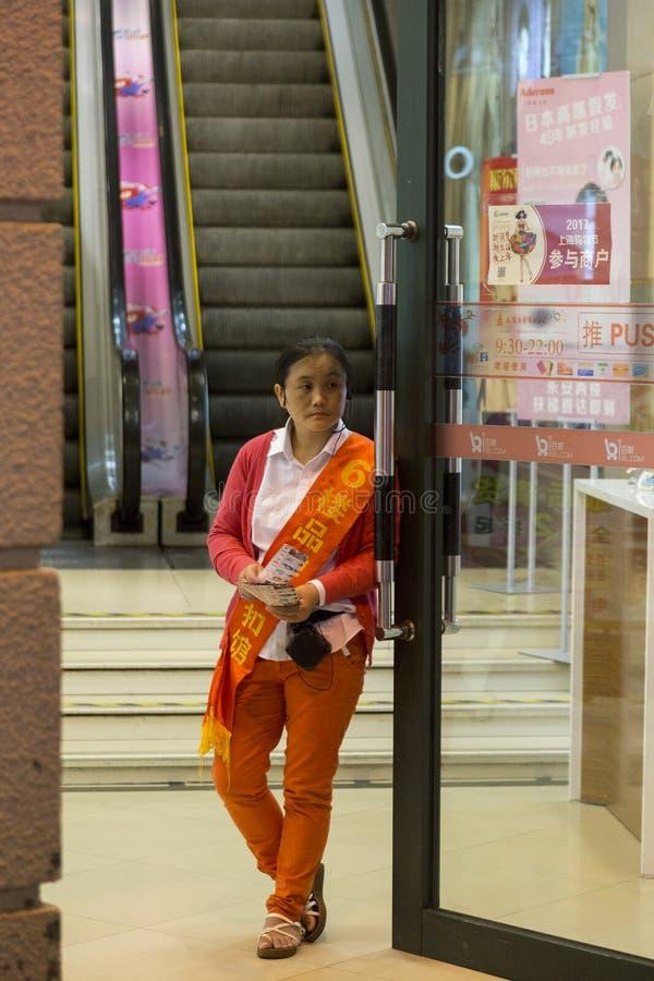 Habitants de Changhaï la ville la plus riche en Chine photo libre de droits