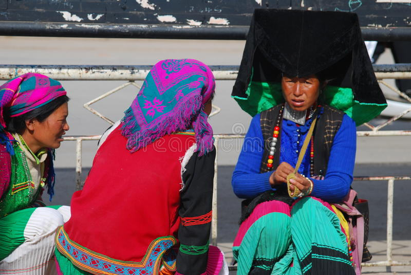 Habitants de YI dans le sud-ouest Chine photos stock
