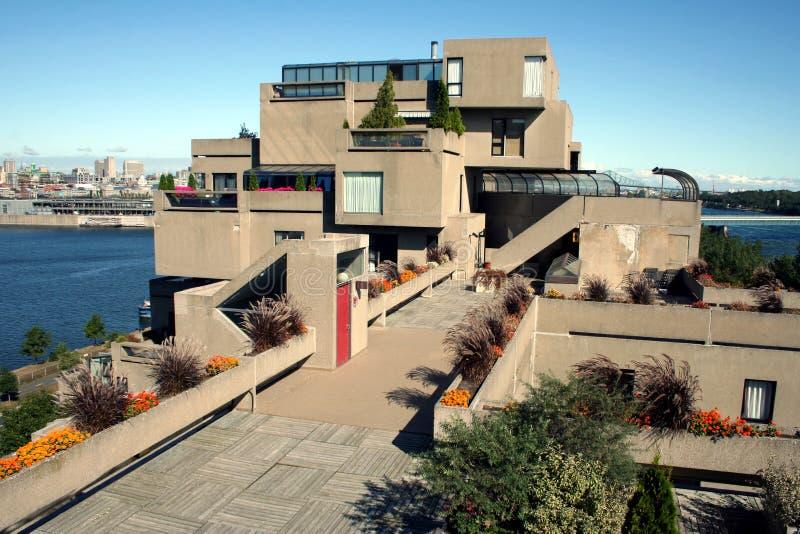 Habitat 67 em Montreal, Canadá fotografia de stock