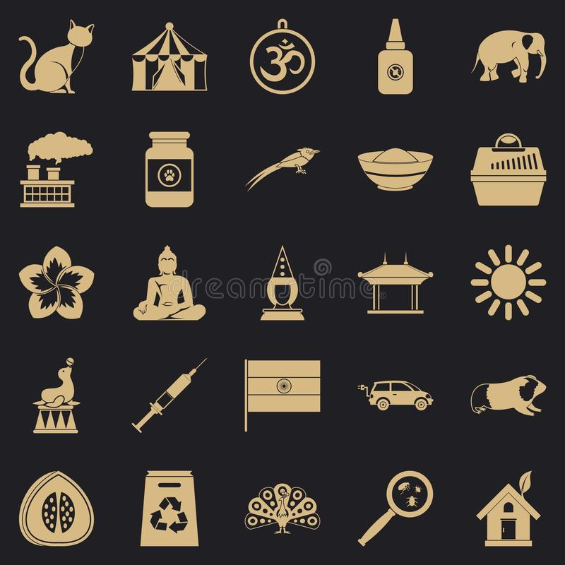 Habitat icons set, simple style. Habitat icons set. Simple set of 25 habitat vector icons for web for any design stock illustration