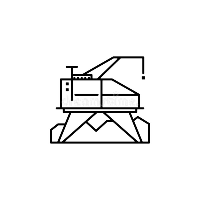 habitation, module, science, station icon. Element of future pack for mobile concept and web apps icon. Thin line icon for website royalty free illustration