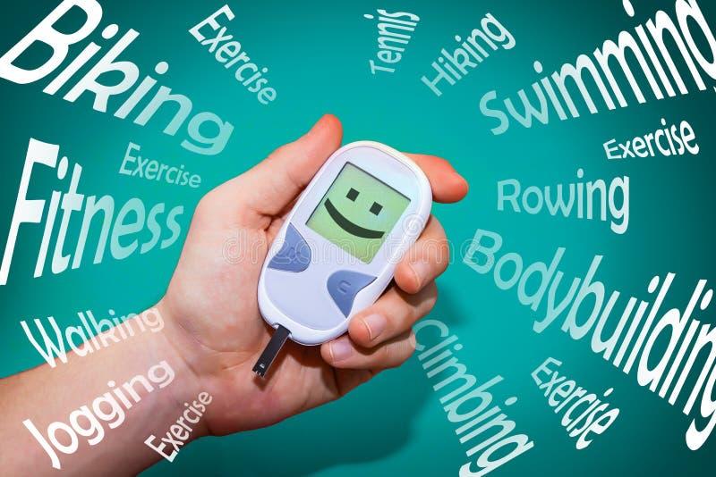 Habitudes positives de santé qui combattent le diabète photographie stock libre de droits