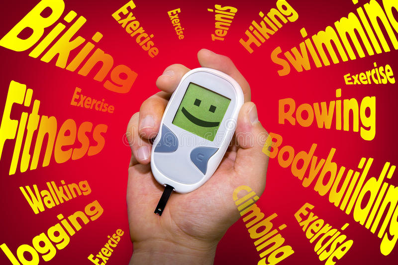 Habitudes positives de santé qui combattent le diabète photographie stock