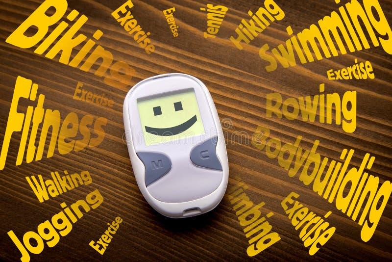 Habitudes positives de santé qui combattent le diabète photos libres de droits