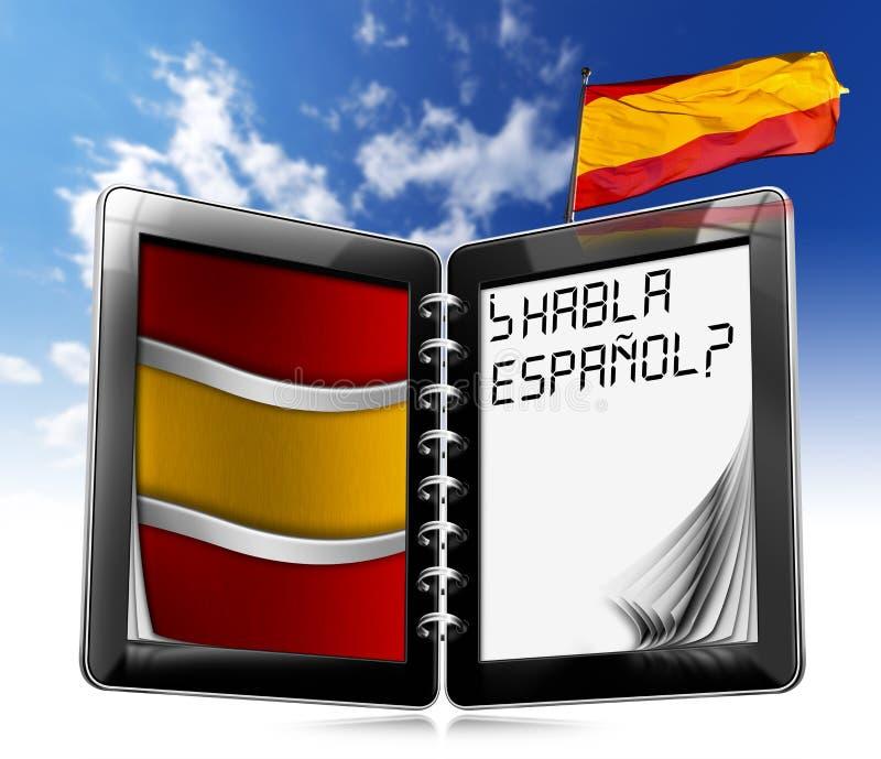 Habla Español? - pastylka komputer ilustracja wektor
