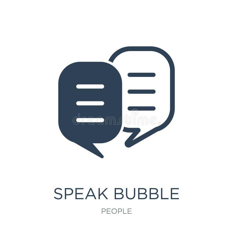 hable el icono de la burbuja en estilo de moda del diseño hable el icono de la burbuja aislado en el fondo blanco hable el icono  stock de ilustración