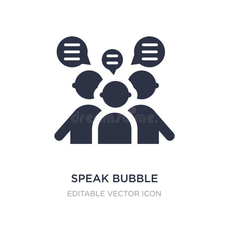 hable el icono de la burbuja en el fondo blanco Ejemplo simple del elemento del concepto de la gente stock de ilustración