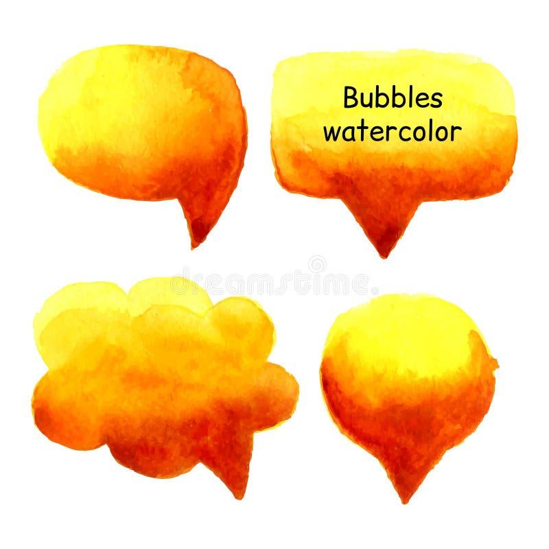 Hable el vector determinado de la acuarela de las burbujas libre illustration