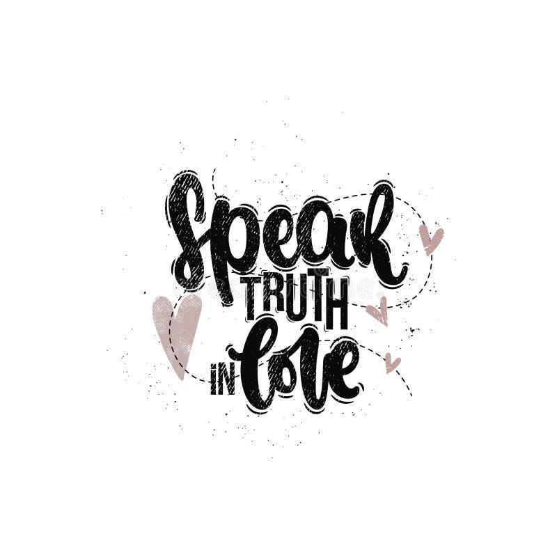 Hable la verdad en amor libre illustration