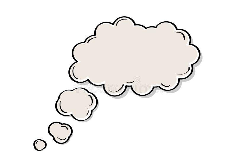 Hable o burbuja del pensamiento ilustración del vector