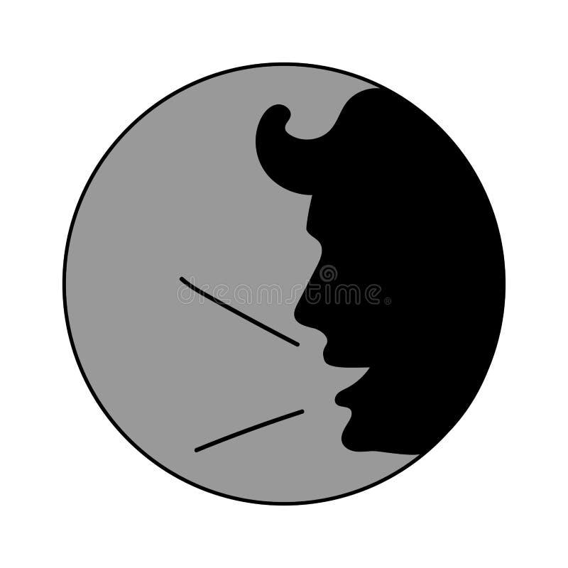 Hable o hable el icono ilustración del vector