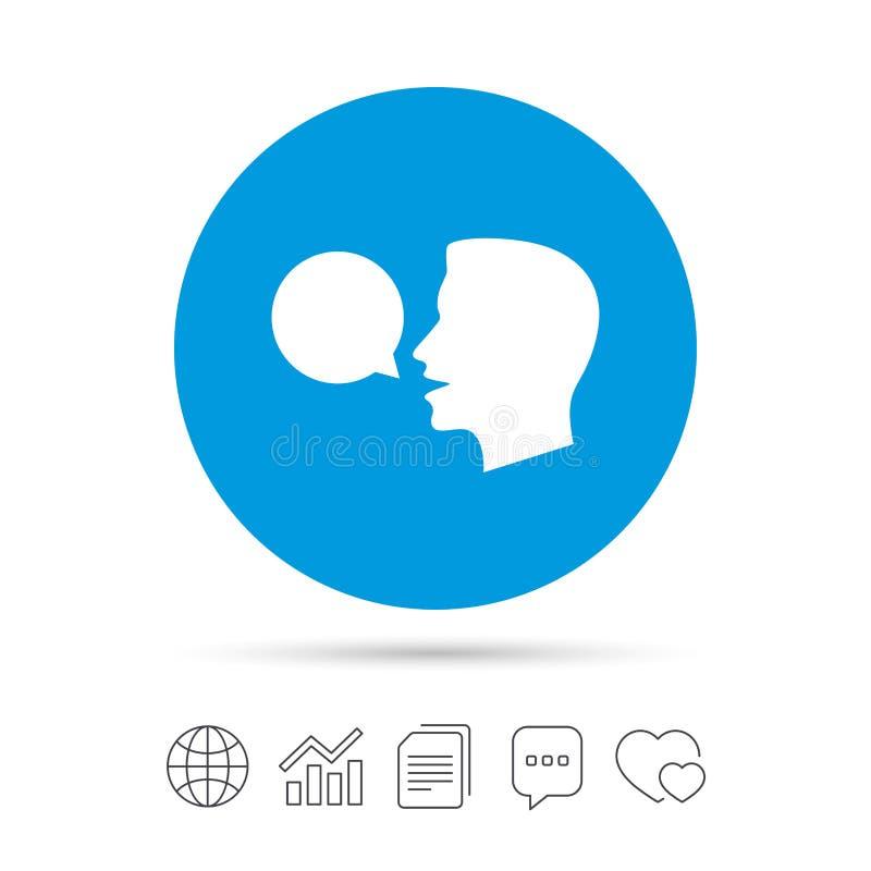 Hable o hable el icono Símbolo de la burbuja del discurso ilustración del vector
