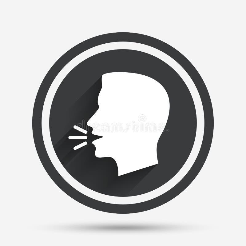 Hable o hable el icono Símbolo del fuerte ruido libre illustration