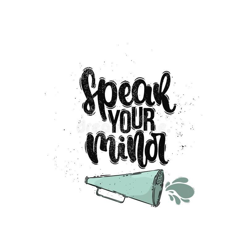 Hable su mente ilustración del vector