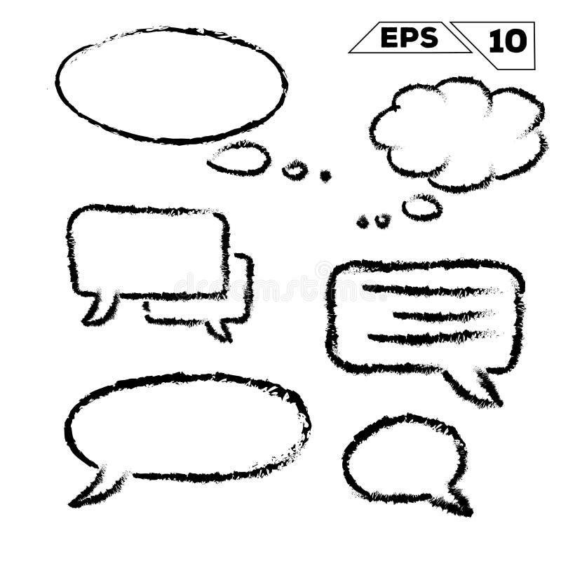 hable y sueñe la burbuja ilustración del vector