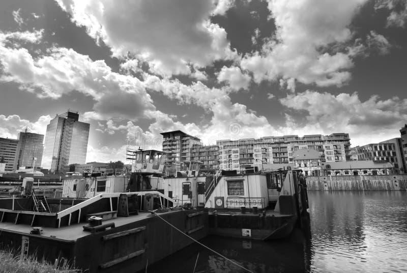 Habor de Holesovice, Praga fotos de archivo libres de regalías