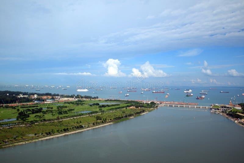 Habor de Singapur foto de archivo libre de regalías