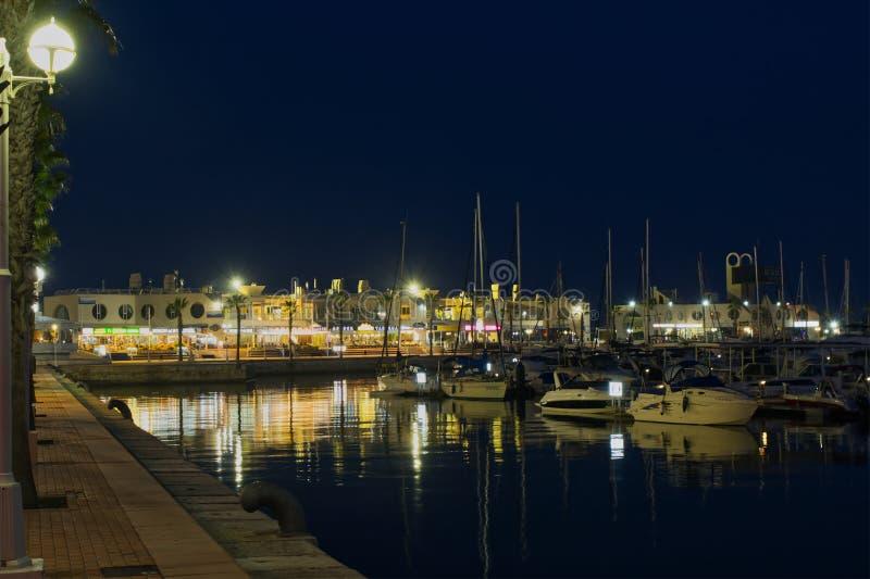 Habour Аликанте вечером, Испания стоковое фото