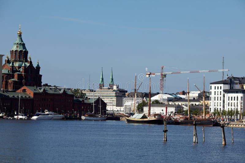 Habour-Ansicht von Helsinki stockfotos