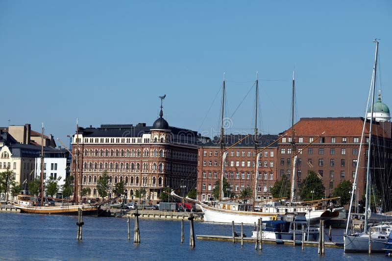 Habour-Ansicht von Helsinki lizenzfreies stockfoto