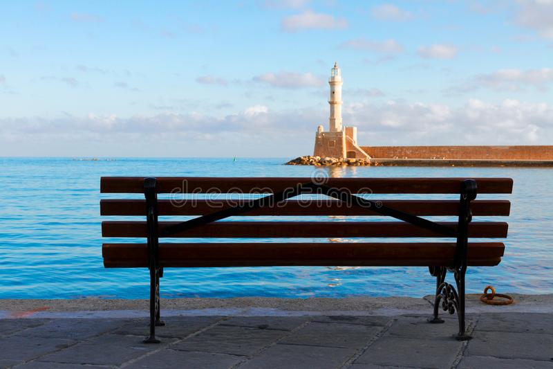 Habour Chania, Крита, Греции стоковое изображение rf