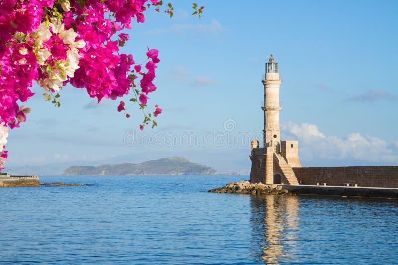 Habour Chania, Крита, Греции стоковое фото