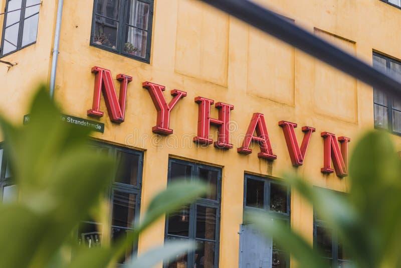 Habour Nyhavn в Copenhgen, Дании стоковое изображение