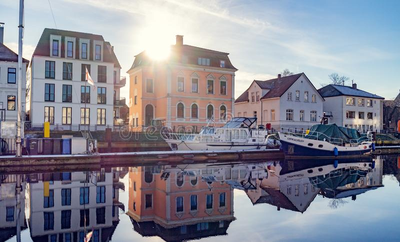 Habour Oldenburgs Niedersachsen am Sonnenlicht stockfoto