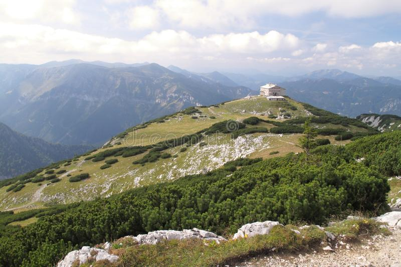 Habsburg mountain hut in Rax Alps royalty free stock photography