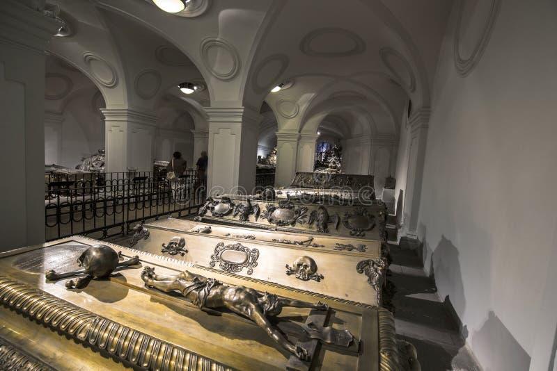 Habsburger国王的土窖在维也纳 库存图片
