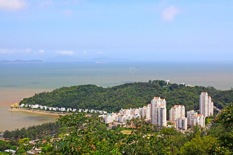 Hac Sa plaża, Macau, Chiny zdjęcia stock