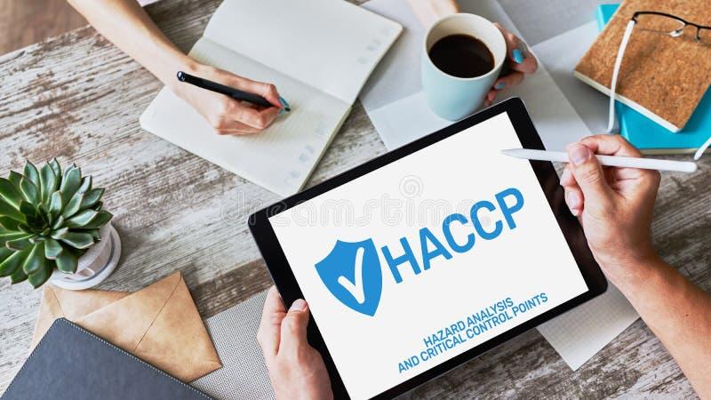 HACCP - Análisis de peligro y punto de control crítico Estándar y certificación, gestión del control de calidad imagen de archivo