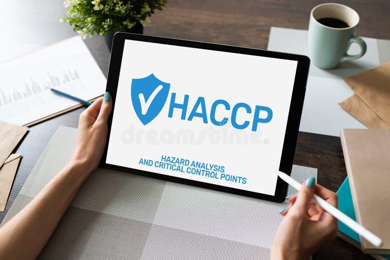 HACCP - Análisis de peligro y punto de control crítico Estándar y certificación, reglas de la gestión del control de calidad imagenes de archivo