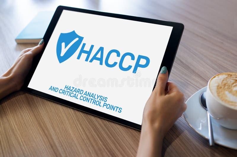 HACCP - Faraanalys och kritisk kontrollpunkt , kvalitets- kontrollledningregler för livsmedelsindustri arkivbilder