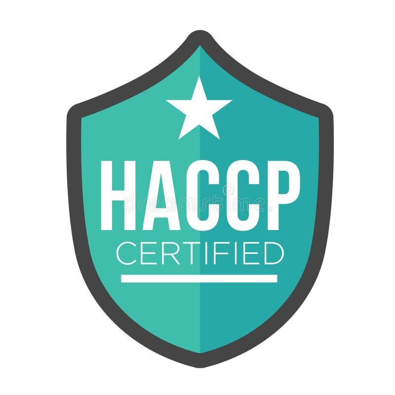 HACCP - Icono crítico de los puntos de control del análisis de peligro con el premio o la marca de cotejo ilustración del vector