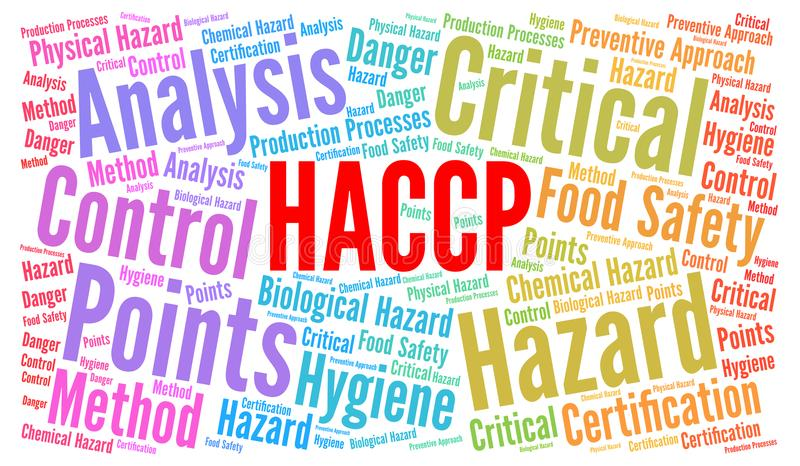 HACCP słowa chmury pojęcie ilustracji