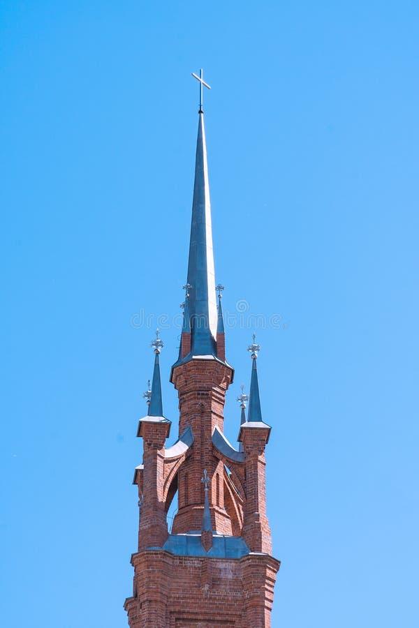 Hace fragmentos de la parroquia del corazón sagrado de Jesús de Roman Catholic Church en la ciudad del Samara imagen de archivo libre de regalías