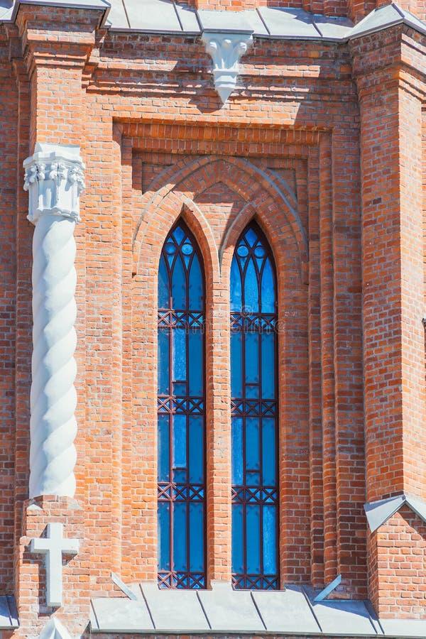 Hace fragmentos de la parroquia del corazón sagrado de Jesús de Roman Catholic Church en la ciudad del Samara foto de archivo libre de regalías